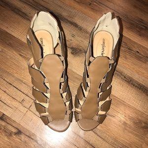 Open toe shoes NWOT